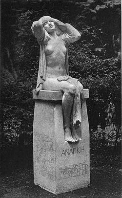 Destiny, sculpted by Gilbert Bayes, a war memorial at Albion Gardens, Ramsgate, Kent, England