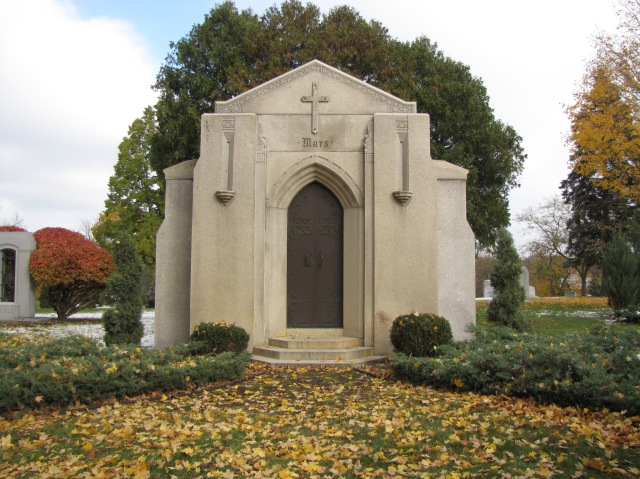 The Mars Family Mausoleum in the Lakewood Cemetery in Minneapolis, Minnesota