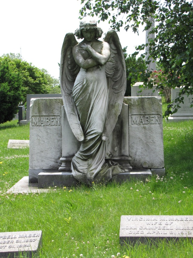 The John and Virginia Maben Monument in the Green-Wood Cemetery at Brooklyn, New York