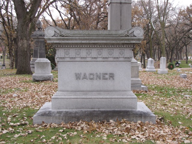 The Wagner Sarcophagus in the Lakewood Cemetery at Minneapolis, Minnesota
