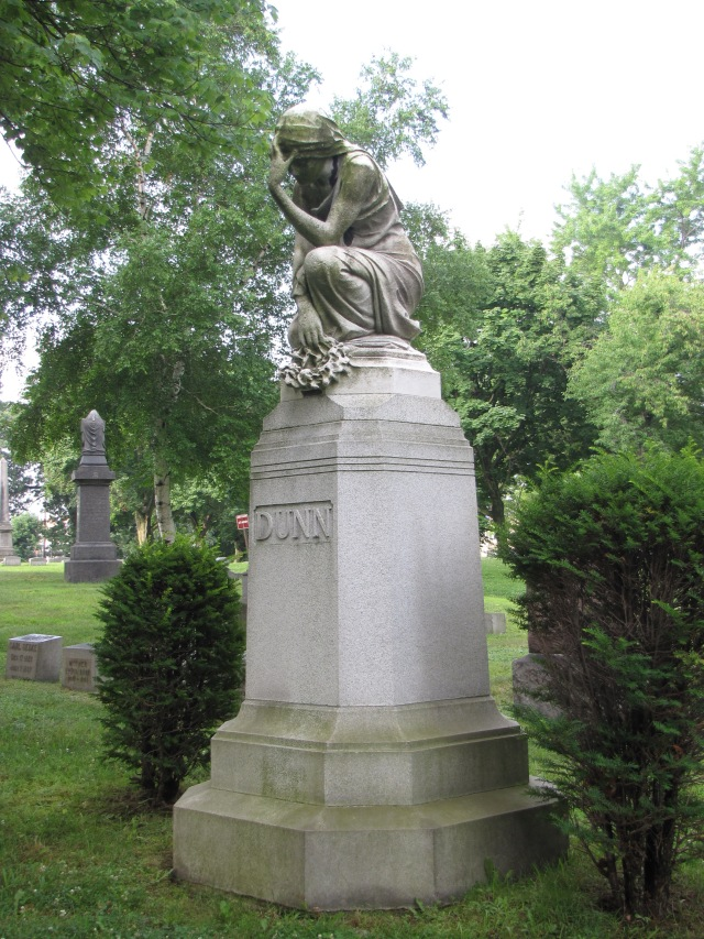 The Inez M. and James Dunn Family Monument at the Glendale Cemetery at Akron, Ohio.