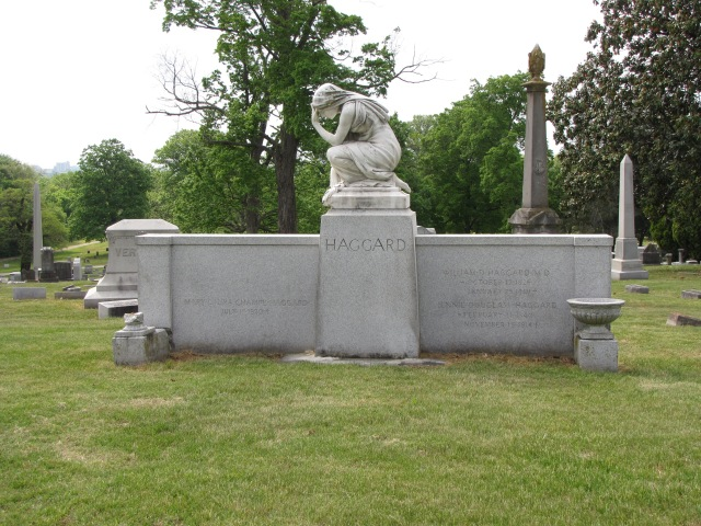 The Haggard monument at the Mount Olivet Cemetery at Nashville, Tennessee