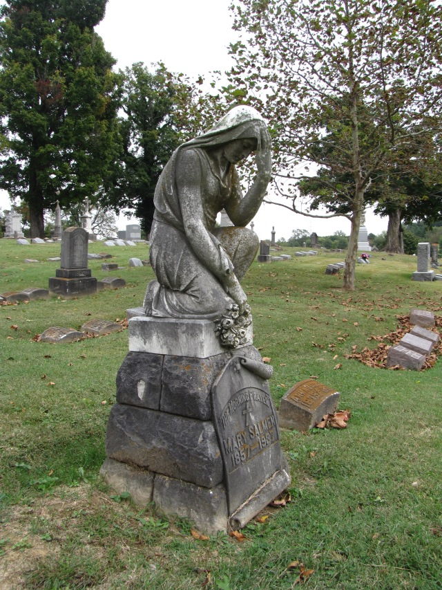 The Mary Salmen Monument at the St. Joseph Catholic Cemetery at Evansville, Indiana