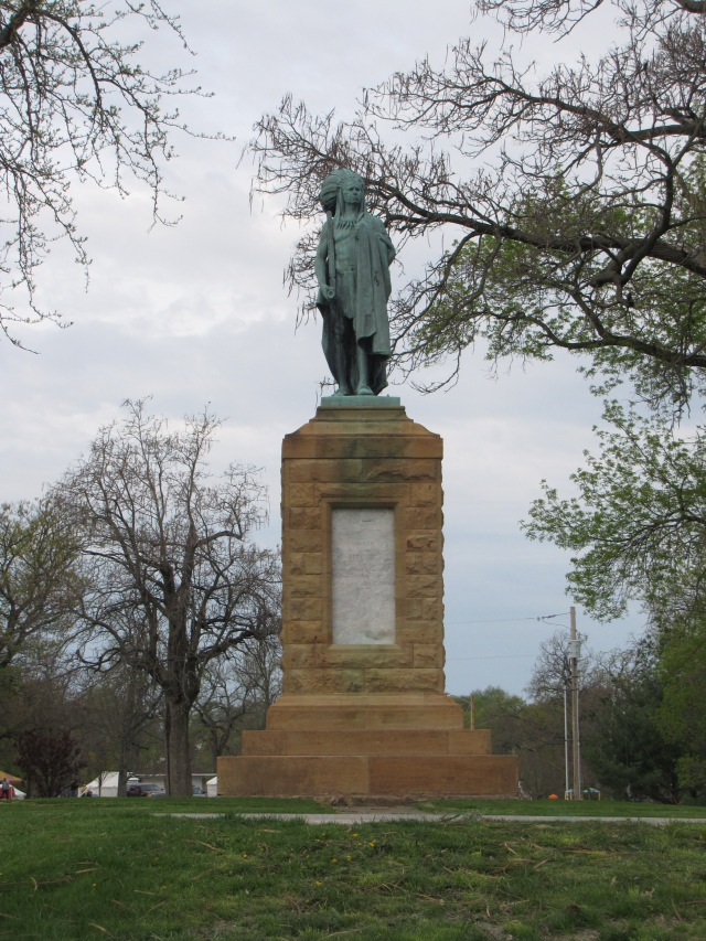 """Chief Keokuk"" in the Keokuk City Park, Keokuk, Iowa"