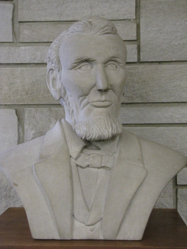 """Abraham Lincoln"" at the Moulton City Library, Moulton, Iowa"