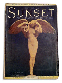 Sunset magazine, (October 1915) her image in a sculpture by Alexander Weinman