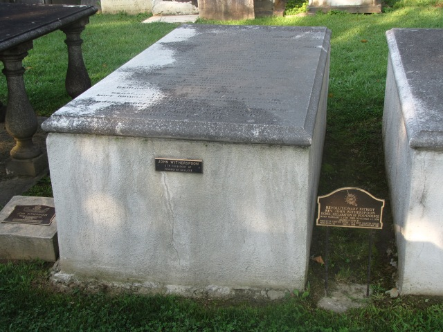 Rev. John Witherspoon Chest Tomb, Princeton Cemetery, Princeton, New Jersey.