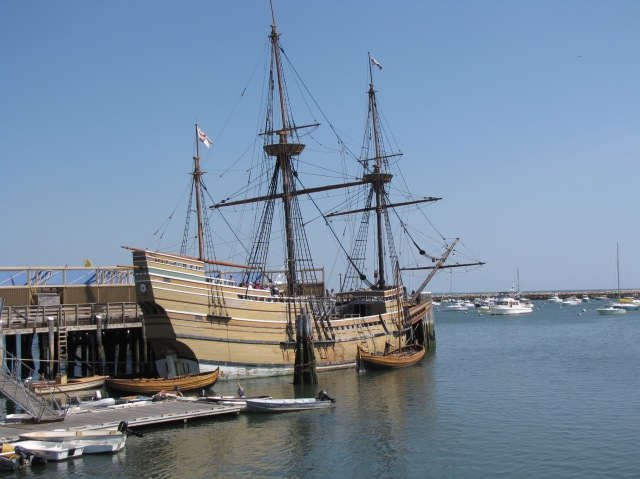 The Mayflower II, in Plymouth Harbor