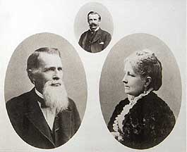 John and Elizabeth Blocher--the inset photograph in the center is their son, Nelson.