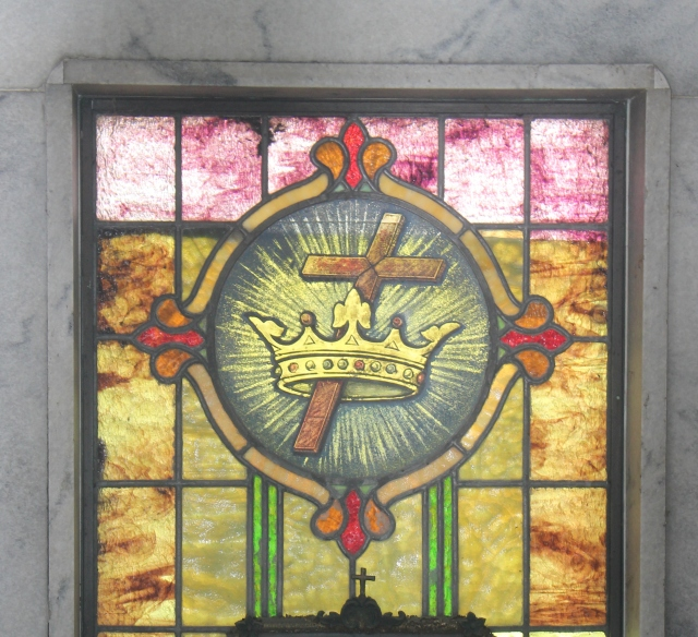 Crown And Cross In Stained Glass Gravely Speaking